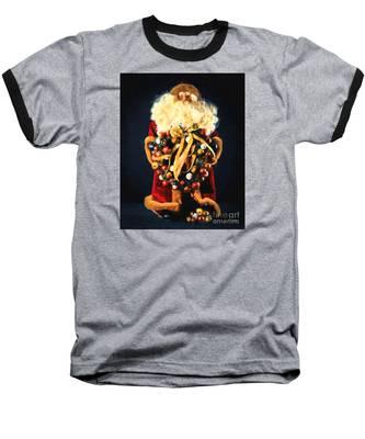 Here Comes Santa Baseball T-Shirt