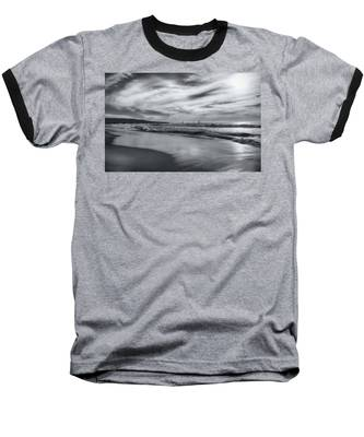 Hermosa Evening Black And White Baseball T-Shirt