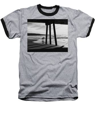 Hermosa Surfer Under Pier Baseball T-Shirt