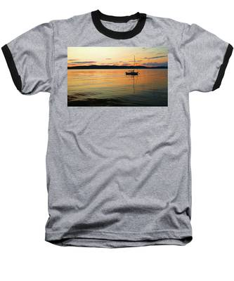 Hudson River From Irvington In Westchester County Baseball T-Shirt