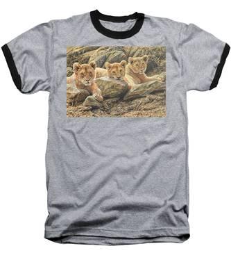 Interrupted Cat Nap Baseball T-Shirt