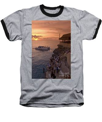 Baseball T-Shirt featuring the photograph Jamaica Negril Ricks Cafe by Juergen Held