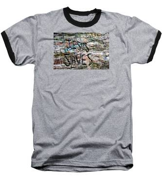 Baseball T-Shirt featuring the photograph Jesus Saves by Andrea Platt
