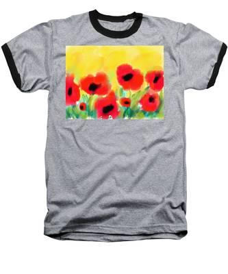 Just Poppies Baseball T-Shirt