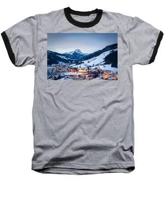 Kirchberg Austria In The Evening Baseball T-Shirt