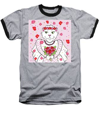 Kitty Bride Baseball T-Shirt