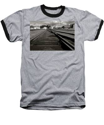 Last Train Track Out Baseball T-Shirt