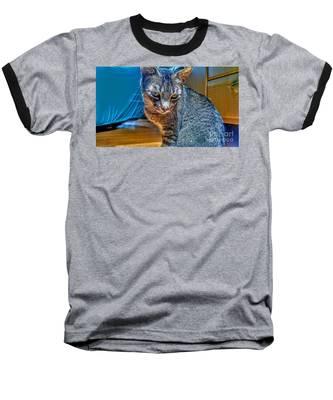 Le Chat Bleu Baseball T-Shirt