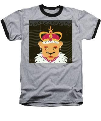 Lioness Queen Baseball T-Shirt