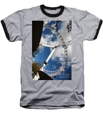 London Ferris Wheel Baseball T-Shirt