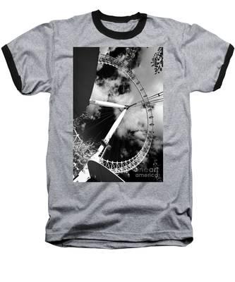 London Ferris Wheel Bw Baseball T-Shirt