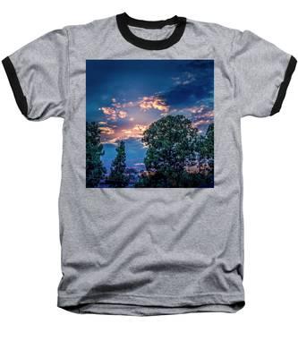 Looking West At Sunset Baseball T-Shirt