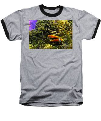 Baseball T-Shirt featuring the photograph Maledives Clown Fish by Juergen Held