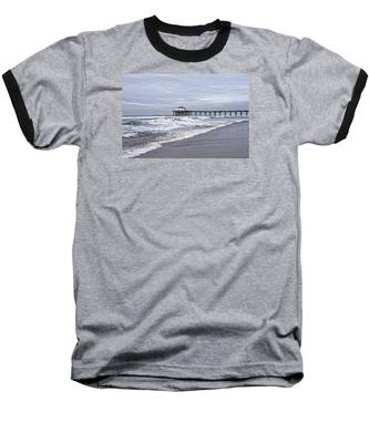 Manhattan Pier Surf And Waves Baseball T-Shirt