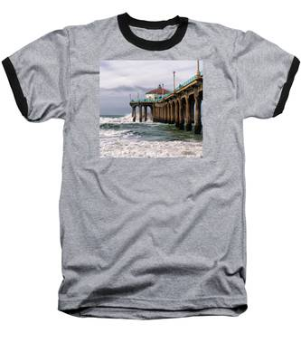 Manhattan Pier Surf Baseball T-Shirt