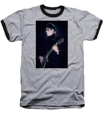 Marco Pirroni Of Adam Ant Baseball T-Shirt by Rich Fuscia