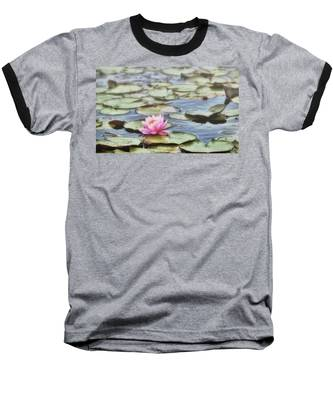 Baseball T-Shirt featuring the photograph Misty Morning Lily by Andrea Platt
