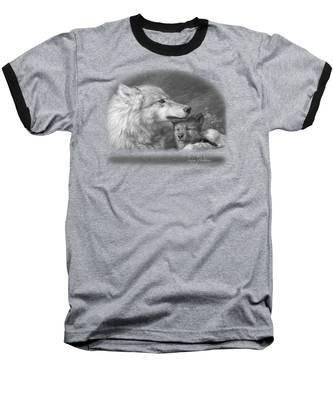 Mother's Love - Black And White Baseball T-Shirt