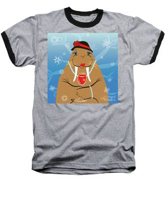 Mrs. Walrus Baseball T-Shirt
