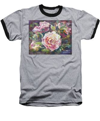 Multi-hue And Petal Rose. Baseball T-Shirt