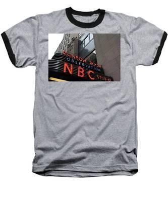 Nbc Studio Rainbow Room Sign Baseball T-Shirt
