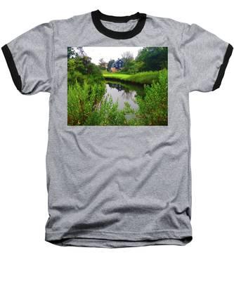 New England House And Stream Baseball T-Shirt