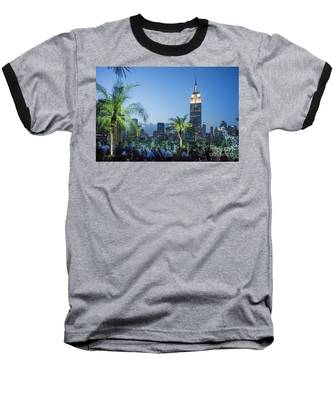 Baseball T-Shirt featuring the photograph New York 230 Fith Rooftop Bar  by Juergen Held