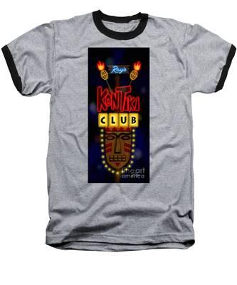 Nightclub Sign Rays Kon Tiki Club Baseball T-Shirt