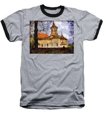 Old Church With Red Roof Baseball T-Shirt