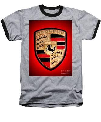 Old Porsche Badge Baseball T-Shirt