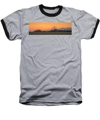 Orange Sunset - Panorama Baseball T-Shirt