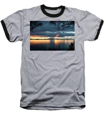 Orcas Island Sunset Baseball T-Shirt