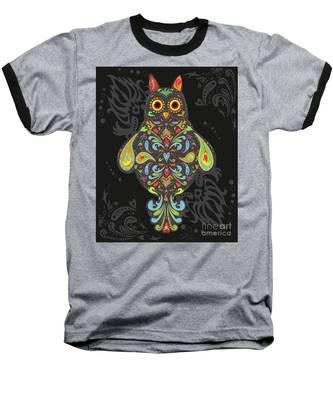 Paisley Owl Baseball T-Shirt