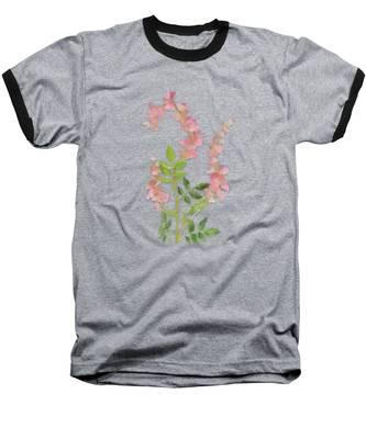 Pink Tiny Flowers Baseball T-Shirt
