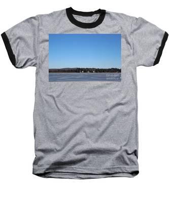 Poconos, The Lake In January Baseball T-Shirt
