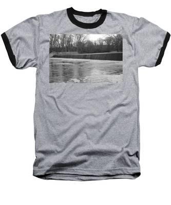 Pompton Spillway In January Baseball T-Shirt