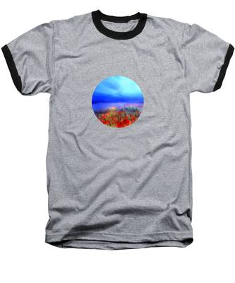 Poppies In The Mist Baseball T-Shirt