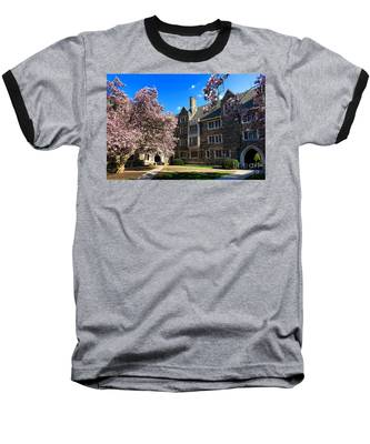 Princeton University Pyne Hall Courtyard Baseball T-Shirt
