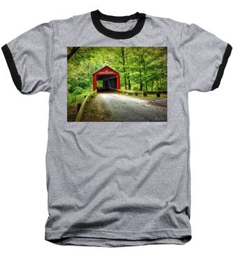 Baseball T-Shirt featuring the photograph Protected Crossing In Summer by Andrea Platt