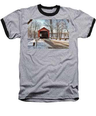 Baseball T-Shirt featuring the photograph Protected Crossing In Winter by Andrea Platt