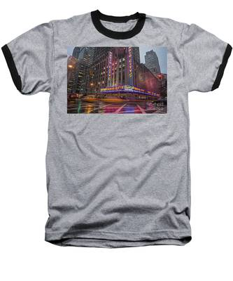 Baseball T-Shirt featuring the photograph Radio City New York  by Juergen Held