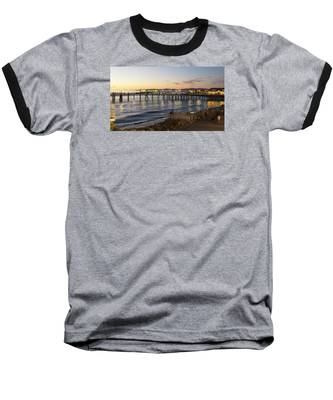 Redondo Pier At Sunset Baseball T-Shirt
