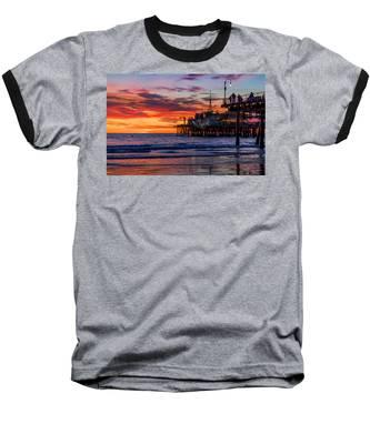 Reflections Of The Pier Baseball T-Shirt