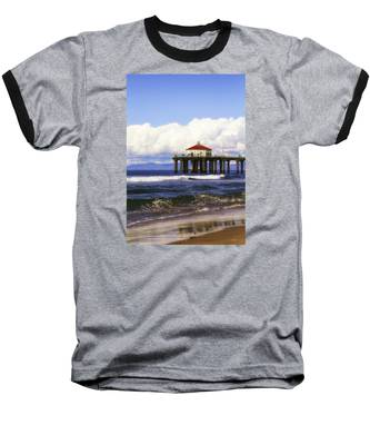 Reflections On The Pier Baseball T-Shirt