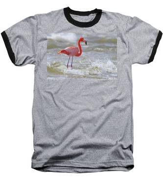 Baseball T-Shirt featuring the photograph Rockin' Waves by Evelyn Garcia