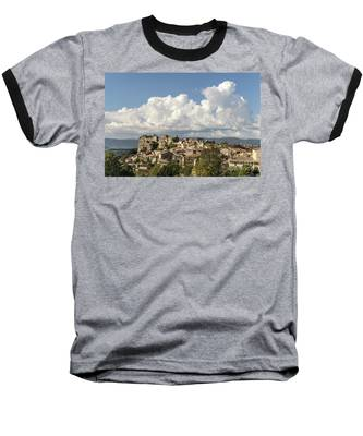 Saignon Village Provence  Baseball T-Shirt by Juergen Held