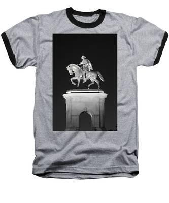 Sam Houston - Black And White Baseball T-Shirt