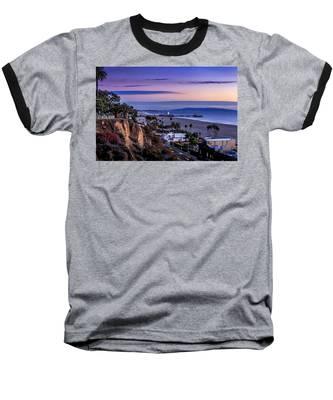 Sitting On The Fence - Santa Monica Pier Baseball T-Shirt