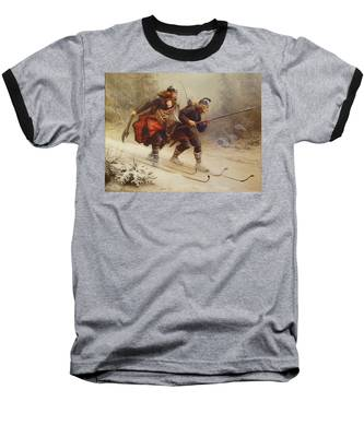 Skiing Birchlegs Crossing The Mountain With The Royal Child Baseball T-Shirt