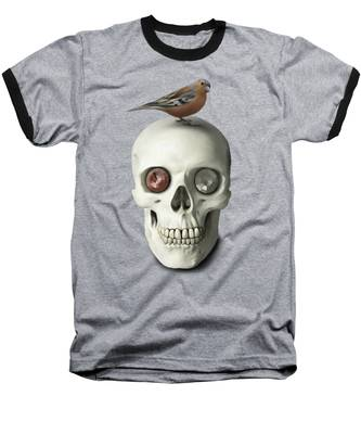 Skull And Bird Baseball T-Shirt